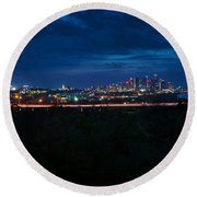 Good Morning Austin Round Beach Towel