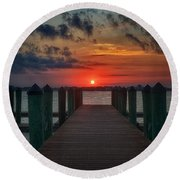 Good Morning Fort Myers Round Beach Towel