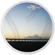 Good Morning Round Beach Towel