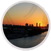 Good Morning Miami Round Beach Towel