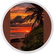 Good Night Hawaii Round Beach Towel