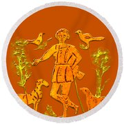 Good Shepherd Round Beach Towel