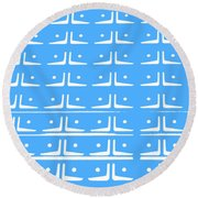 Up Tempo In Baby Blueberry Round Beach Towel
