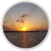 Goodby Sunset Round Beach Towel
