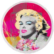 Goodbye Norma Jean  Round Beach Towel