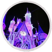 Goodnight Cinderella Round Beach Towel