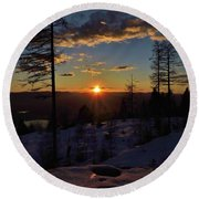 Goodnight Montana Round Beach Towel