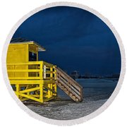 Goodnight Siesta Key Round Beach Towel