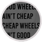 Goodwheels Round Beach Towel