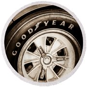Goodyear Tire -0250s Round Beach Towel