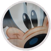 Goofy Round Beach Towel
