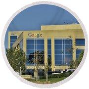 Google Orange County Round Beach Towel