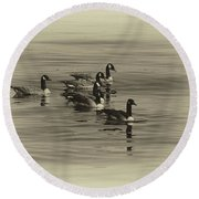 Goose Bumps Round Beach Towel