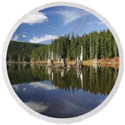 Goose Lake Round Beach Towel