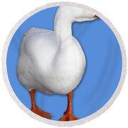 Goose Me Round Beach Towel