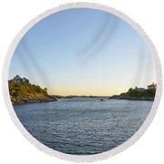 Goose Neck Cove - Newport Rhode Island Round Beach Towel