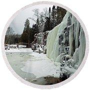 Gooseberry Frozen Falls Round Beach Towel