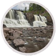 Gooseberry Middle Falls 24 Round Beach Towel
