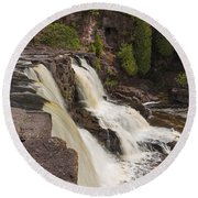 Gooseberry Middle Falls 26 Round Beach Towel