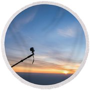 Gopro Action Sport Camera On A Boom Round Beach Towel