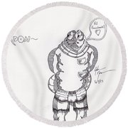 Gordon Round Beach Towel