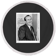 Gordon E. Doc Hamilton 1926  2004 Kvoa Tv Tucson Arizona Dick Mayers Photo C.1968 Round Beach Towel