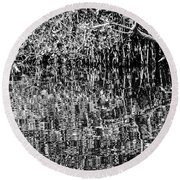 Gordon River Reflections Two 2 Round Beach Towel