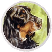 Gordon Setter Round Beach Towel