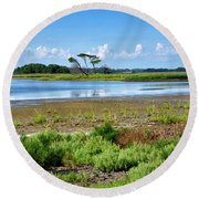 Gordons Pond At Cape Henlopen State Park - Delaware Round Beach Towel