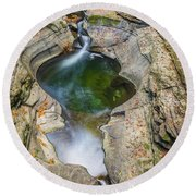 Gorge Trail In Autumn Watkins Glen Round Beach Towel