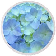 Gorgeous Blue Colorful Floral Art Hydrangea Flowers Baslee Troutman Round Beach Towel