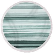 Gorgeous Grays Abstract Interior Decor I Round Beach Towel