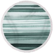 Gorgeous Grays Abstract Interior Decor II Round Beach Towel