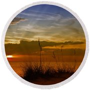 Gorgeous Sunset Round Beach Towel