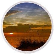 Gorgeous Sunset Round Beach Towel by Melanie Viola