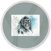 Gorila2 Round Beach Towel