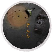 Gorillas Round Beach Towel