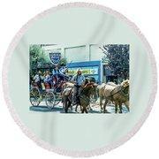 Goshen Parade 1980-3 Round Beach Towel