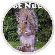 Got Nuts? Round Beach Towel