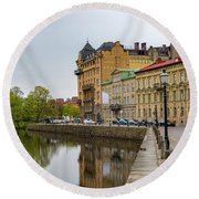 Gothenburg Canal And Park Round Beach Towel