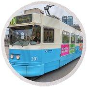 Gothenburg City Tram Round Beach Towel
