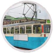 Gothenburg Tram Car Round Beach Towel