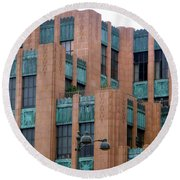 Gothic Architecture In Los Angeles Round Beach Towel