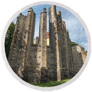 Gothic Cathedral Of Our Lady Round Beach Towel