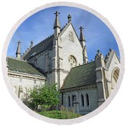 Gothic Chapel, Indianapolis, Indiana Round Beach Towel
