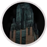 Gothic Night. Architecture Of Los Angeles Round Beach Towel