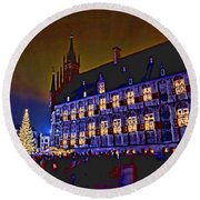 Gouda By Candlelight-1 Round Beach Towel