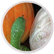 Gourds Round Beach Towel