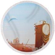 Government Clock Round Beach Towel