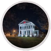 Governor John Wood Mansion Round Beach Towel